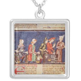 Dice Makers, from the 'Book of Games Silver Plated Necklace