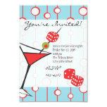 """Dice Martini 3.5"""" X 5"""" Invitation Card"""