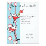 """Dice Martini 4.25"""" X 5.5"""" Invitation Card"""