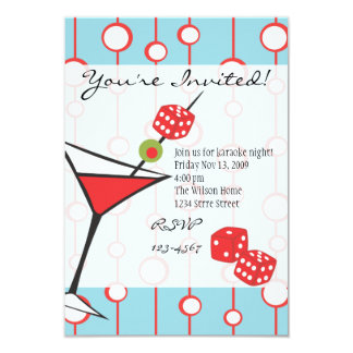 Dice Martini Card
