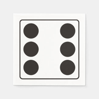 DICE numbers of pips 6 + your backgr. Disposable Serviette