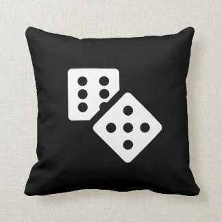 Dice Pictogram Throw Pillow Throw Cushion
