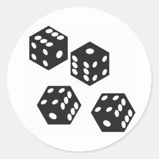 dice round sticker