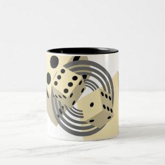 dice Two-Tone coffee mug