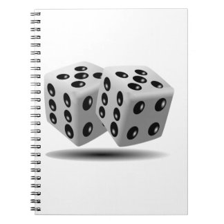 Dices Image Spiral Note Books