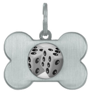 Dices Pet Name Tags