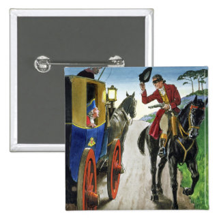 Dick Turpin (1706-39) from 'Peeps into the Past', 15 Cm Square Badge