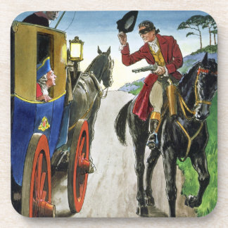 Dick Turpin (1706-39) from 'Peeps into the Past', Coaster