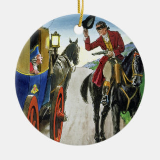 Dick Turpin (1706-39) from 'Peeps into the Past', Round Ceramic Decoration