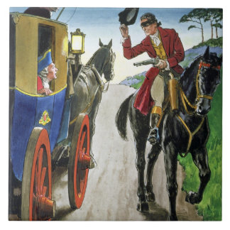 Dick Turpin (1706-39) from 'Peeps into the Past', Tile