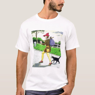 Dick Whittington (1358-1423) and his cat, from 'Pe T-Shirt