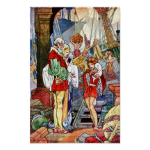 Dick Whittington and His Cat Charles Robinson Art Print