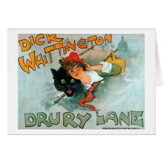 Dick Whittington, Vintage poster Card