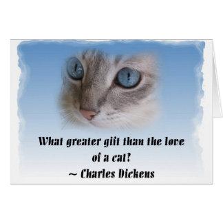 Dickens Cat Card
