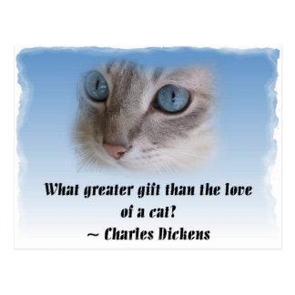 Dickens Cat Postcard