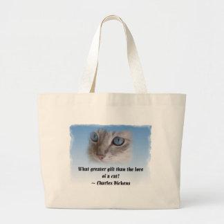 Dickens Cat Tote Bags