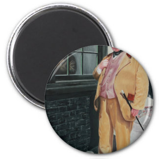 Dickens character 6 cm round magnet
