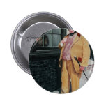 Dickens character pinback button