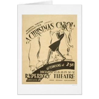 Dickens Christmas Carol 1938 WPA Greeting Card