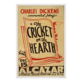 Dickens Cricket On Hearth 1938 WPA Posters