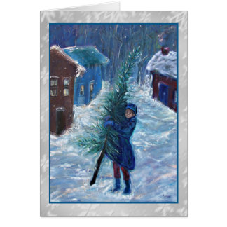 Dicken's Tale Art Christmas Card