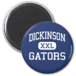 Dickinson - Gators - High School - Dickinson Texas 6 Cm Round Magnet