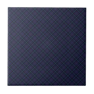 Dickson Clan Tartan Designed Print Small Square Tile