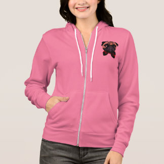 Dicky Pug - Ladies Zip Hooded Jacket