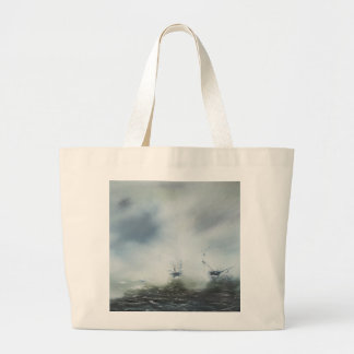 Dicovery a clearing in the sea mist Captain Large Tote Bag