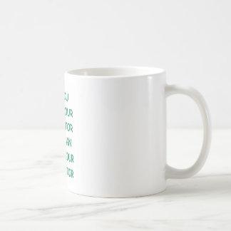 dictator basic white mug