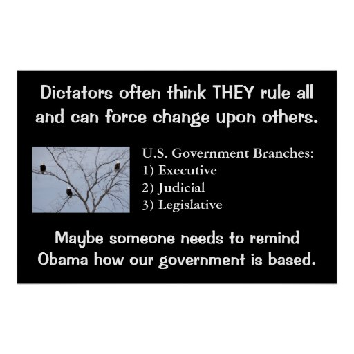 Dictators Force Change 36x24  Poster