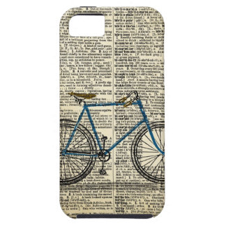 DICTIONARY Art Print Blue Bicycle Bike Vintage Case For The iPhone 5