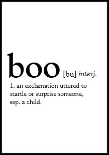 Definition of halloween gifts gift ideas zazzle uk dictionary definition of boo halloween invitation stopboris Image collections