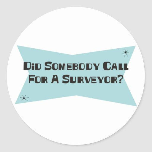 Did Somebody Call For A Surveyor Sticker