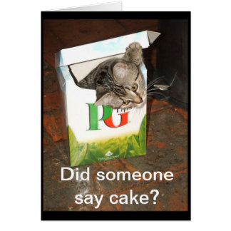 Did someone say cake? card