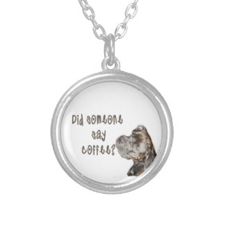 Did someone say coffee? round pendant necklace