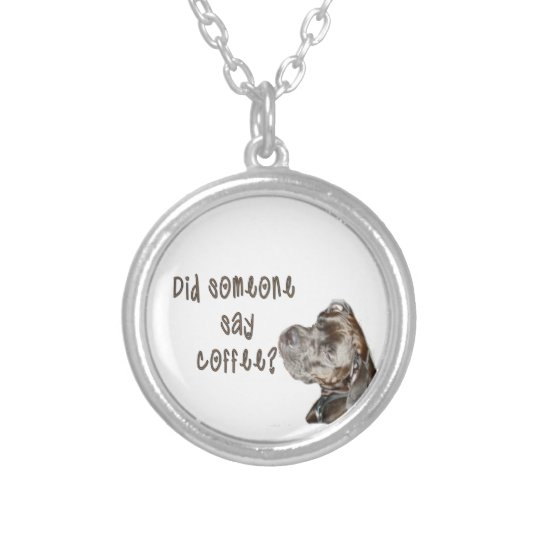 Did someone say coffee? silver plated necklace