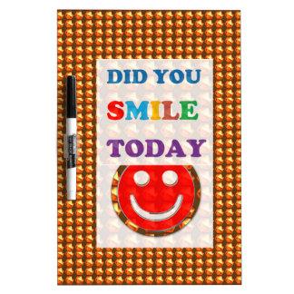 DID U SMILE S M I L E  today - ART NavinJoshi GIFT Dry Erase Boards