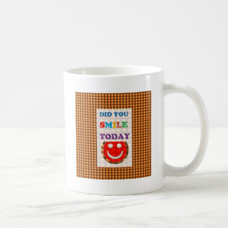 DID U SMILE S M I L E  today - ART NavinJoshi GIFT Coffee Mugs