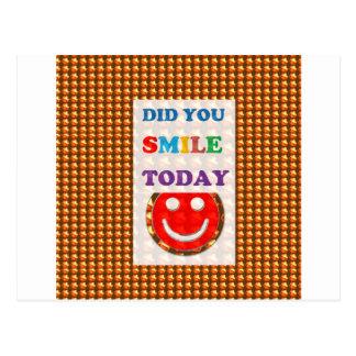 DID U SMILE today? Wisdom Golden Text Jewel FUN Postcard