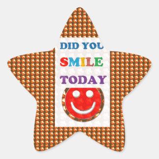 DID U SMILE today? Wisdom Golden Text Jewel FUN Star Sticker