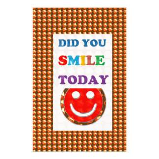 DID U SMILE today? Wisdom Golden Text Jewel FUN Custom Stationery