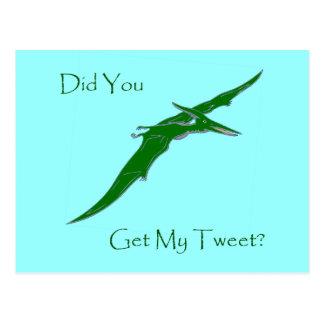 Did You Get My Tweet? Postcard