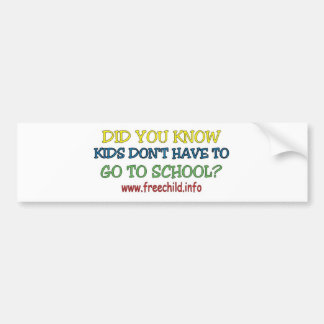 Did you know? Bumper Sticker