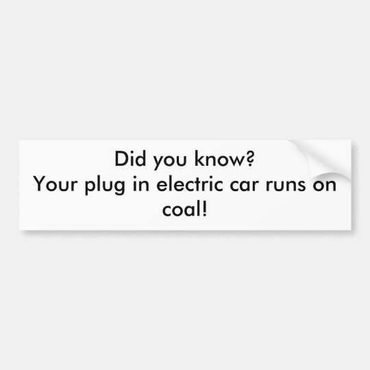 Did you know?Your plug in electric car runs