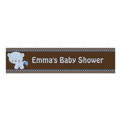 Diddles Boy Lion Birthday Banner Posters