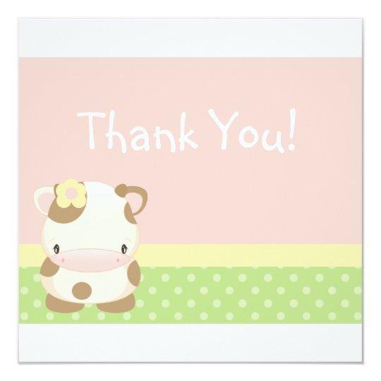 Diddles Farm Moo-Cow Thank you Card