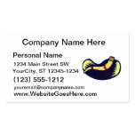 Didgeridoo against blue background graphic business card