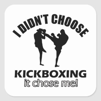 Didn't choose kick box square sticker