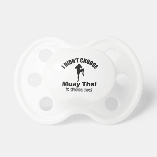 Didn't choose muay thai baby pacifier